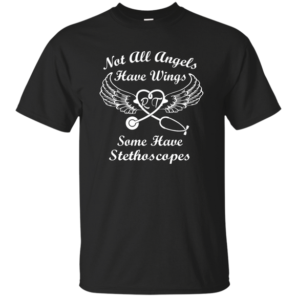 not all angels have wings some have stethoscopes black unisex t-shirt