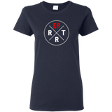 emergency room rrt women's navy blue t-shirt