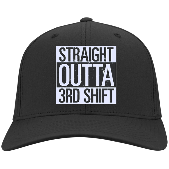 Straight Outta 3rd Shift black twill Hat