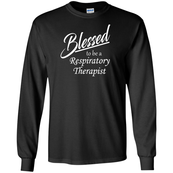 blessed to be a respiratory therapist black long sleeve t-shirt
