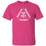 registered respiratory therapist triangle logo pink t-shirt