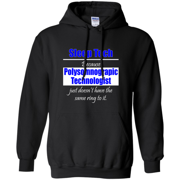 blue sleep tech polysomnographic technologist black hoodie