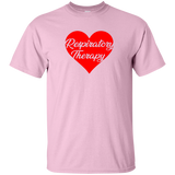 respiratory therapy heart valentine's edition light pink unisex t-shirt