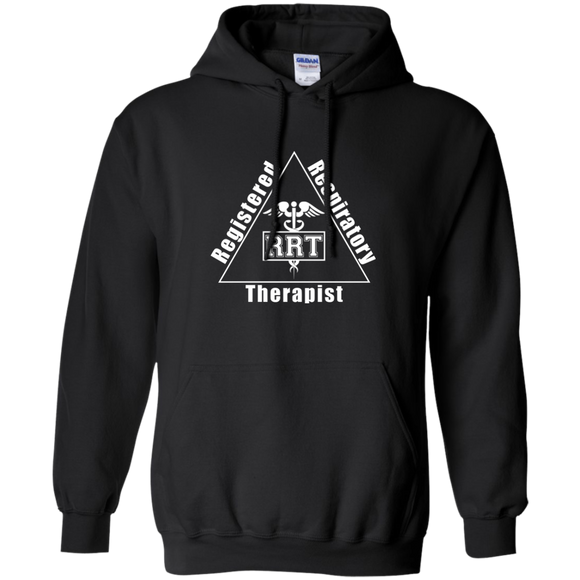 registered respiratory therapist triangle logo black hoodie
