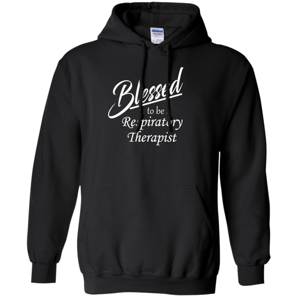 blessed to be a respiratory therapist black hoodie