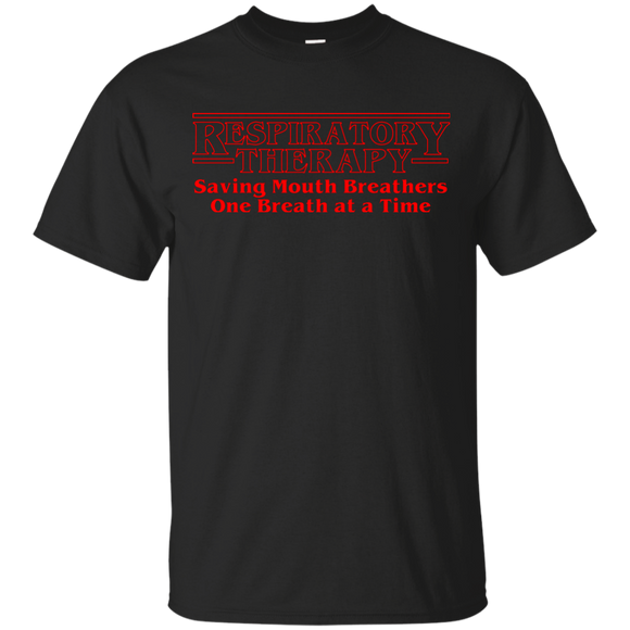 respiratory therapy saving mouth breathers one breath at a time black unisex t-shirt