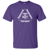 registered respiratory therapist triangle logo purple t-shirt