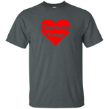 respiratory therapy heart valentine's edition dark gray unisex t-shirt