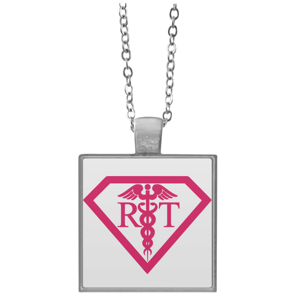 respiratory therapist what's your superpower white square necklace