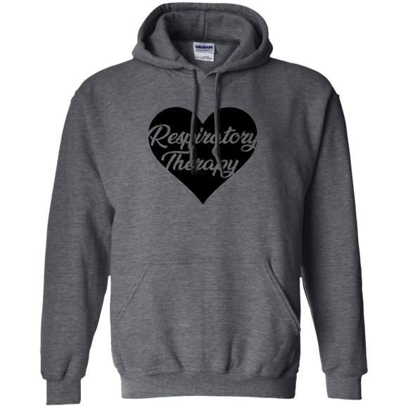 respiratory therapy heart gray hoodie