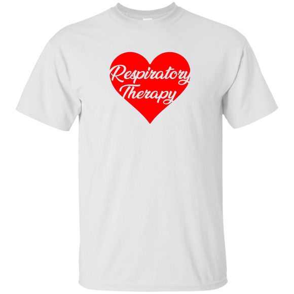 respiratory therapy heart valentine's edition white unisex t-shirt