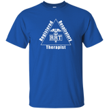 registered respiratory therapist triangle logo blue t-shirt