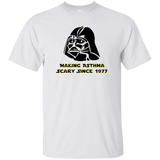 Darth vader making asthmas scary since 1977 white t-shirt