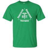 registered respiratory therapist triangle logo green t-shirt