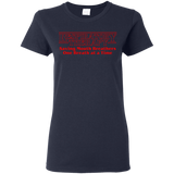 respiratory therapy saving mouth breathers one breath at a time navy blue women's t-shirt