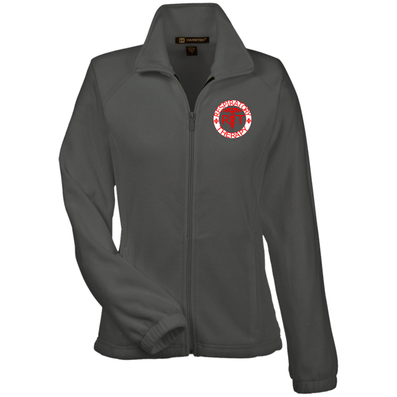 red respiratory therapy logo women's gray embroidered fleece jacket