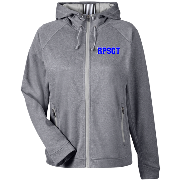 blue rpsgt light gray women's embroidered zip up hoodie