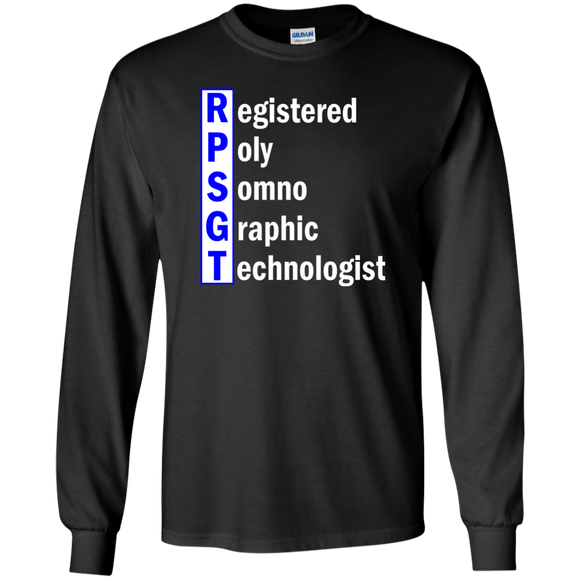 blue registered poly somno graphic technologist black long sleeve t-shirt