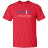 Respiratory therapist NICU RT Saving Tiny Humans one breath at a time red t-shirt