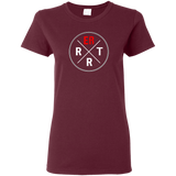 emergency room rrt women's maroon t-shirt
