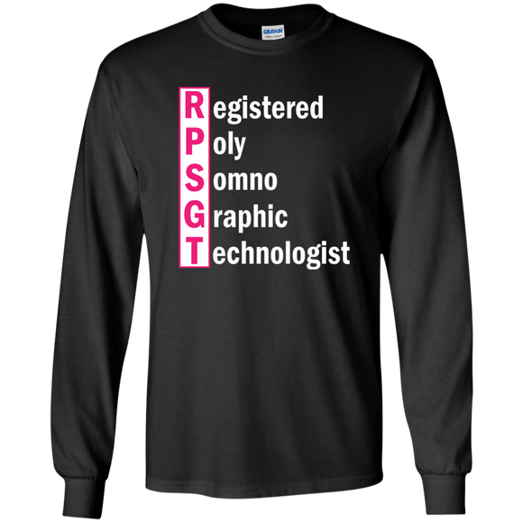 pink registered poly somno graphic technologist black long sleeve t-shirt