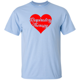respiratory therapy heart valentine's edition light blue unisex t-shirt