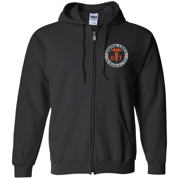 respiratory therapists saving lives one breath at a time black zip up hooded jacket