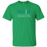 Respiratory therapist NICU RT Saving Tiny Humans one breath at a time green t-shirt