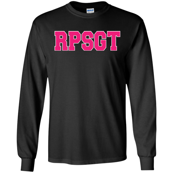 respiratory therapist pink rpsgt black long sleeve t-shirt