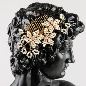 Flower Comb with Ivy Sprigs