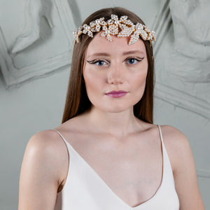 Pearl Flower Hair Band