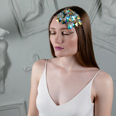 Iridescent Crystals Hair Band