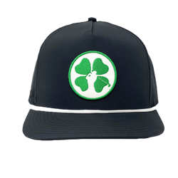 Lucky Clover Patch Hat - Black