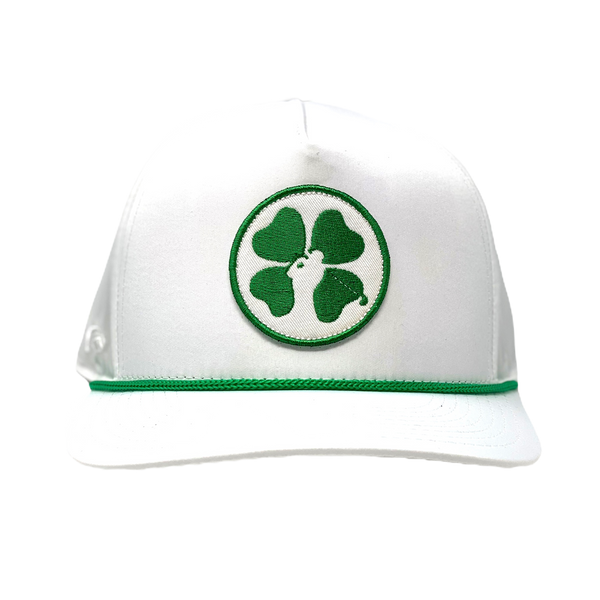 Lucky Clover Hat - White