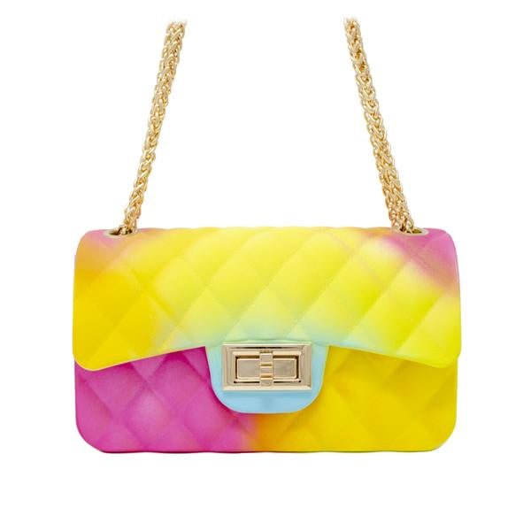 JELLY TIE DYE BAG  PINK/YELLOW/BLUE