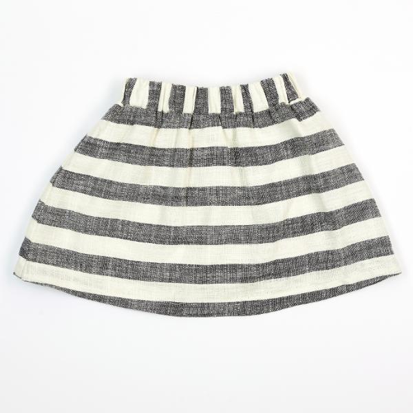 STRIPE LINEN SKIRT DOE