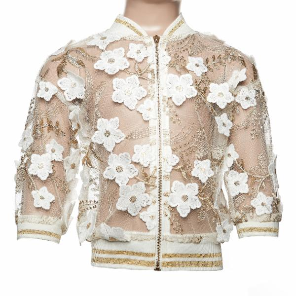 LACE FLORAL BOMBER JACKET DOE