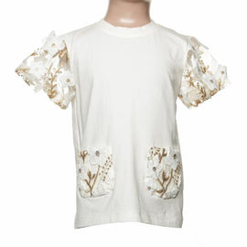 LACE FLORAL POCKET TEE DOE