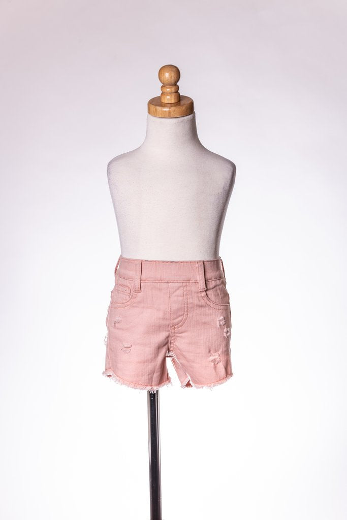 PINK LACE DENIM SHORT ML