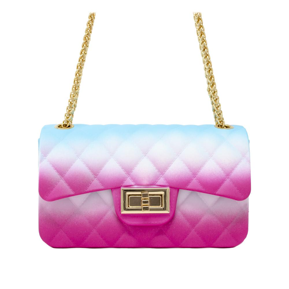 JELLY TIE DYE BAG - PINK/WHITE/BLUE