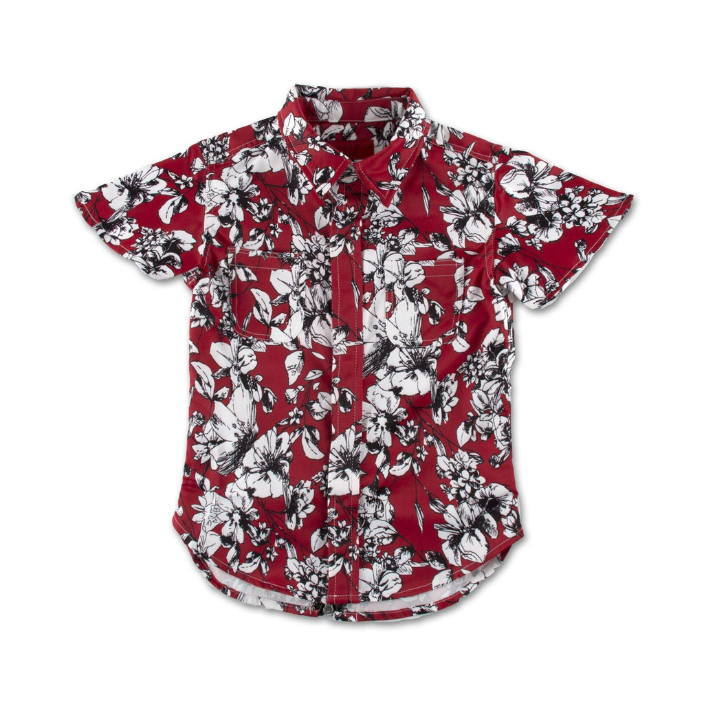 Red Lilo Button Up