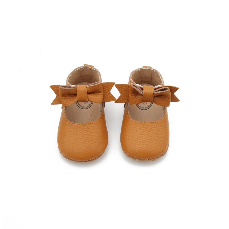 BALLERINA BOW SOFT BOTTOM CHESNUT CLAY MOCC