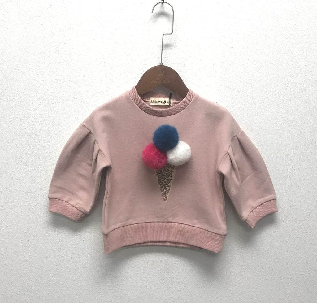 Blush Pom-Pom Ice Cream Sweater