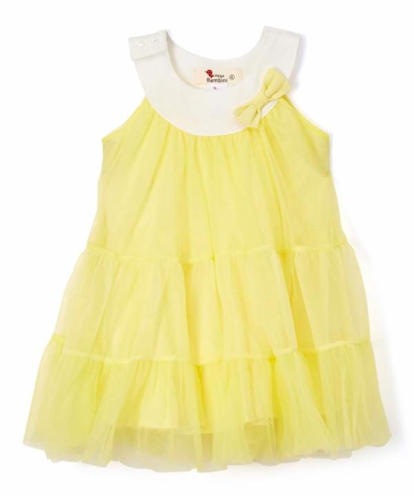 YELLOW LAYERED TULLE DRESS DOE