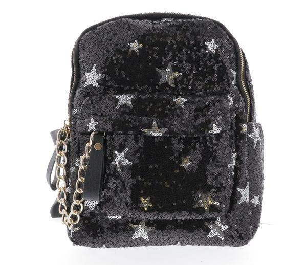 SEQUIN STARS & CROSS BACKPACK DOE