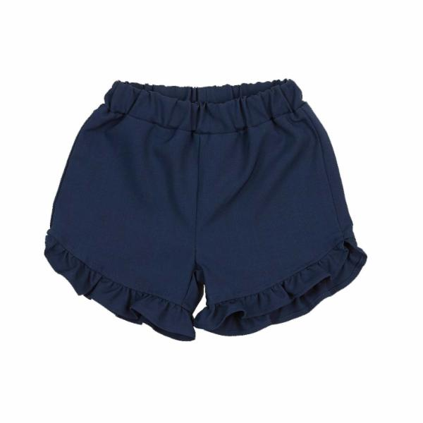 NAVY RUFFLE SHORT DOE