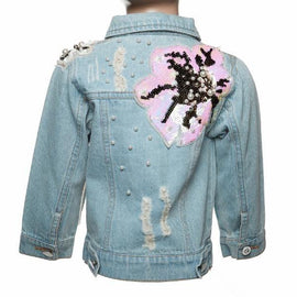 DETAILED PATCHED DENIM JACKET DOE