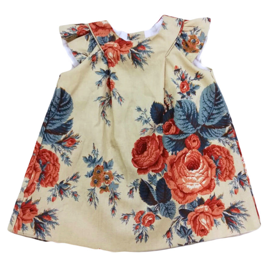 TAN FLORAL DRESS NOAHS ARK