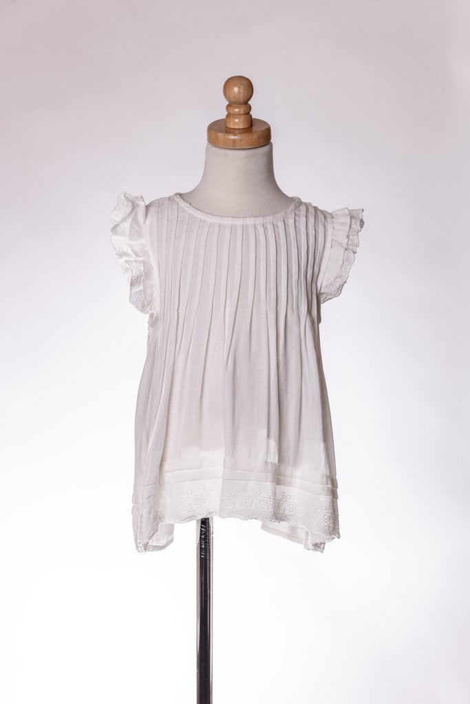 WHITE RUFFLE SHIRT DRESS ML