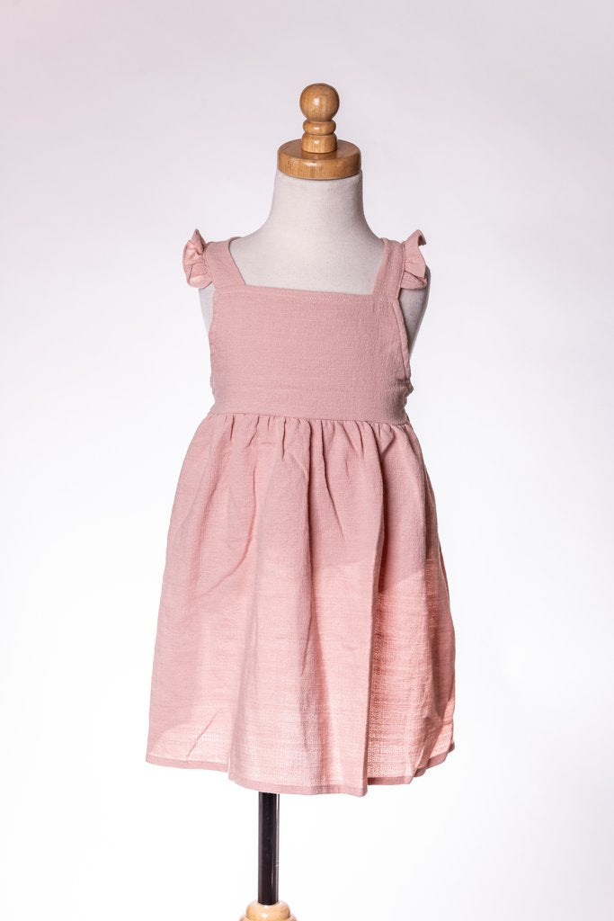 DEEP BLUSH TIE DRESS ML
